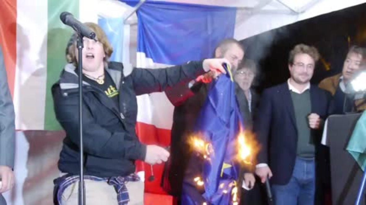 "France: ""F*ck Merkel"" - Far-right protesters oppose EU refugee quota"