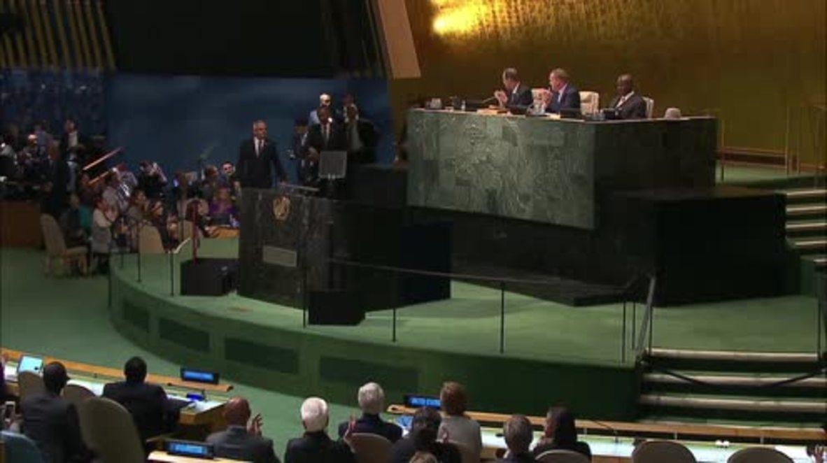 UN: Obama addresses poverty  world hunger at UN summit