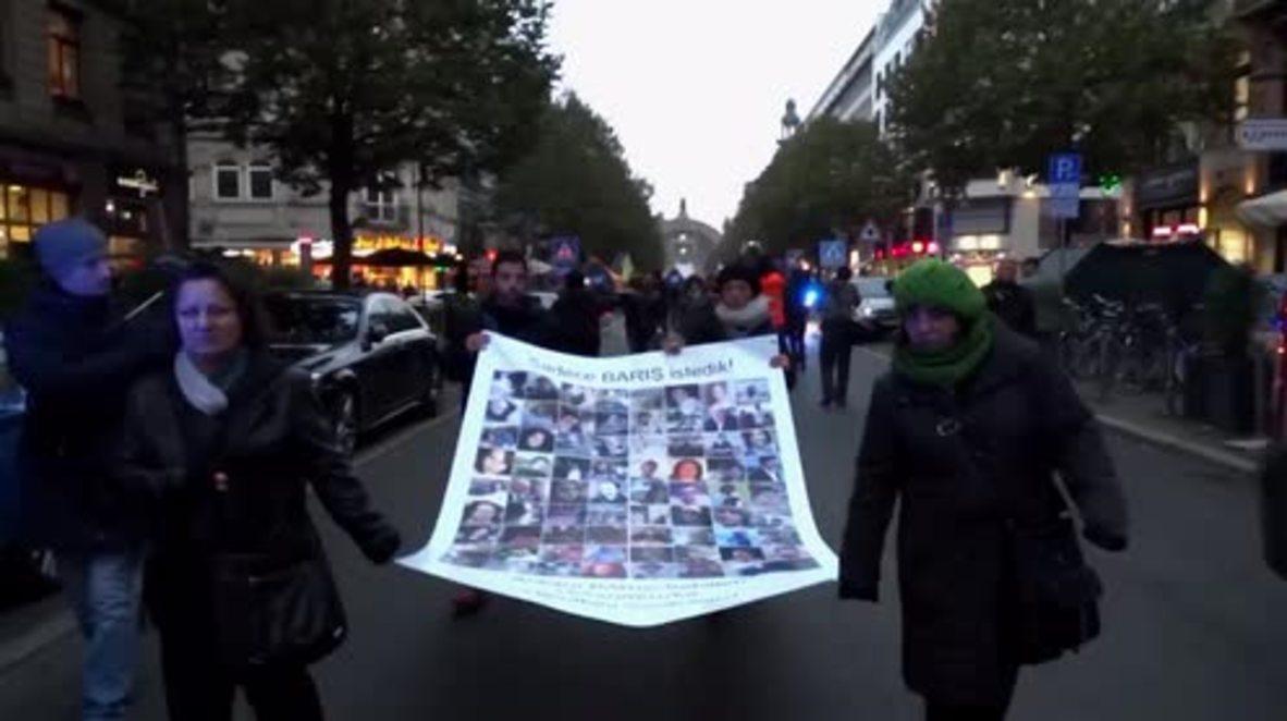 Germany: Ankara bombing victims remembered at Frankfurt march
