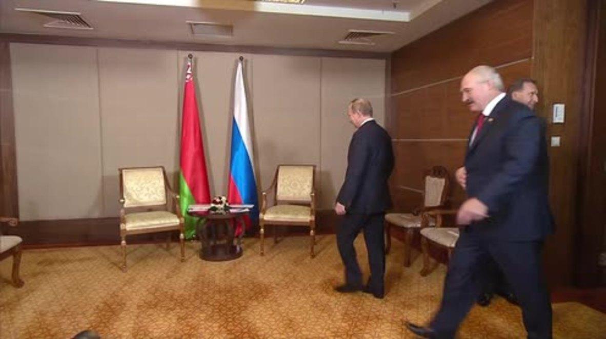Kazakhstan: Putin and Lukashenko discuss bilateral cooperation at CIS summit