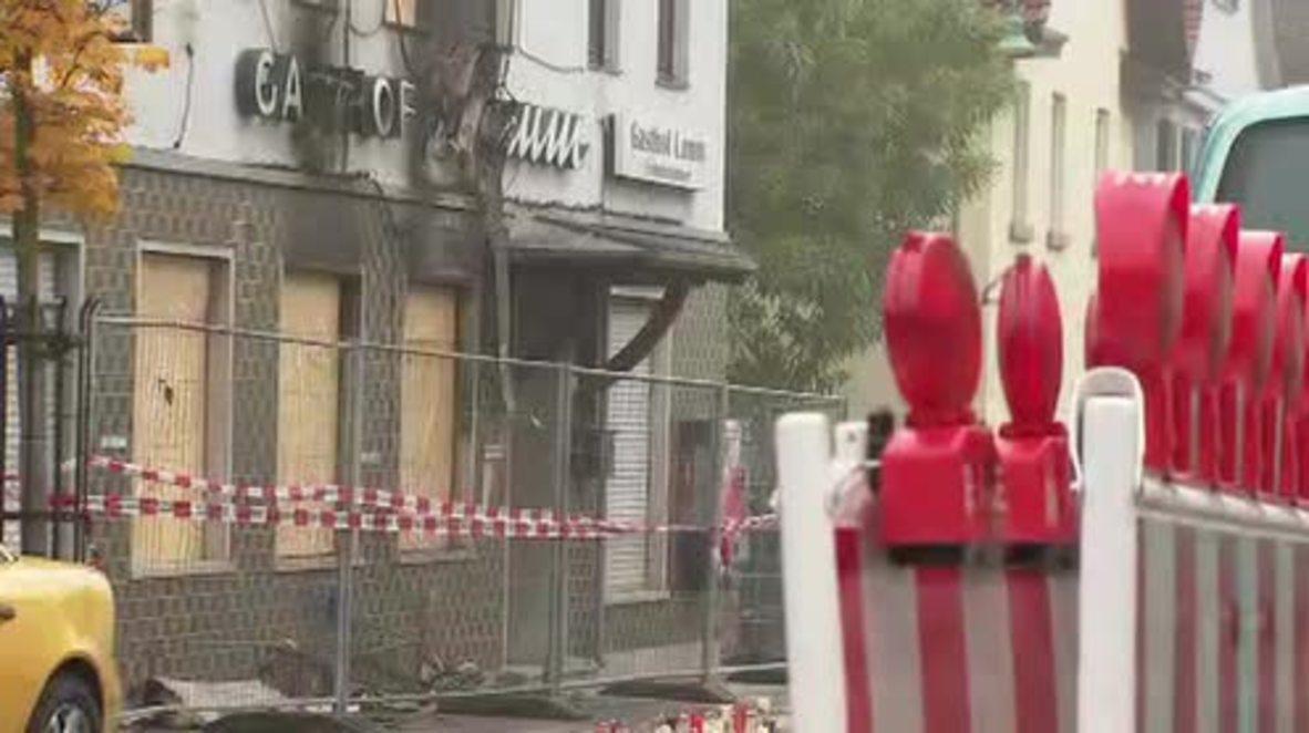 Germany: Crime scene established at scorched inn next to refugee shelter