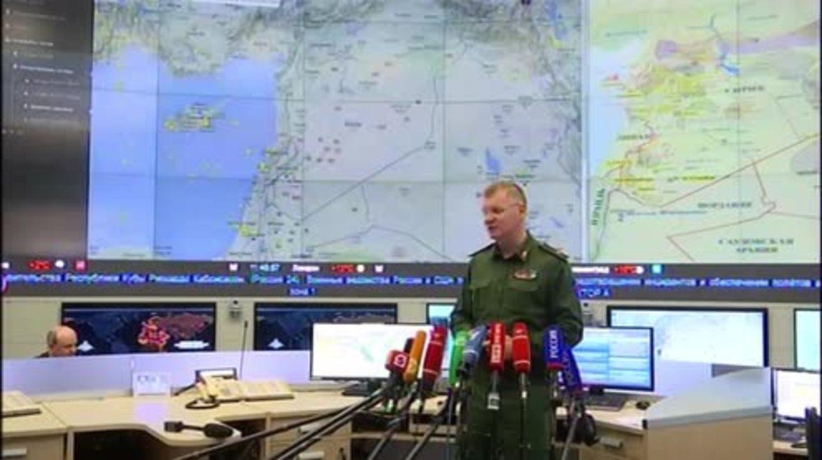 Russia: Eighty-three 'terrorist targets' hit in latest Syria airstrikes - DM spokesperson