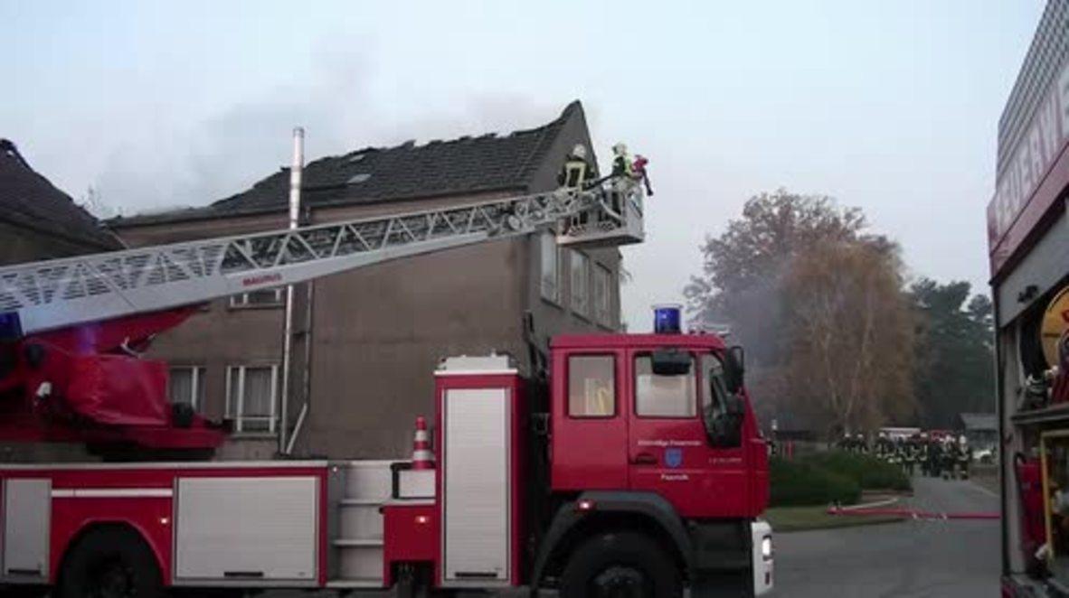 Germany: Huge fire destroys planned refugee shelter