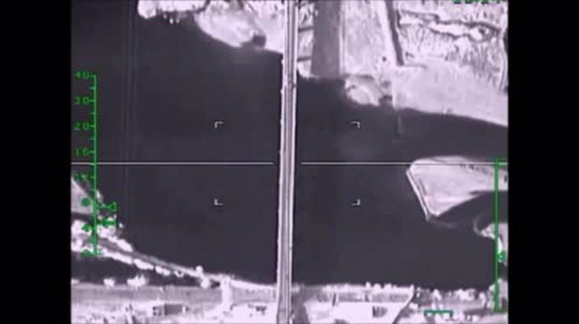 Syria: Russian jets level militant-controlled bridge near Raqqa