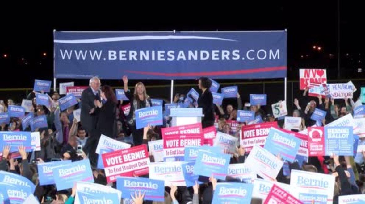 USA: Bernie Sanders slams US prison system, Donald Trump in latest election rally