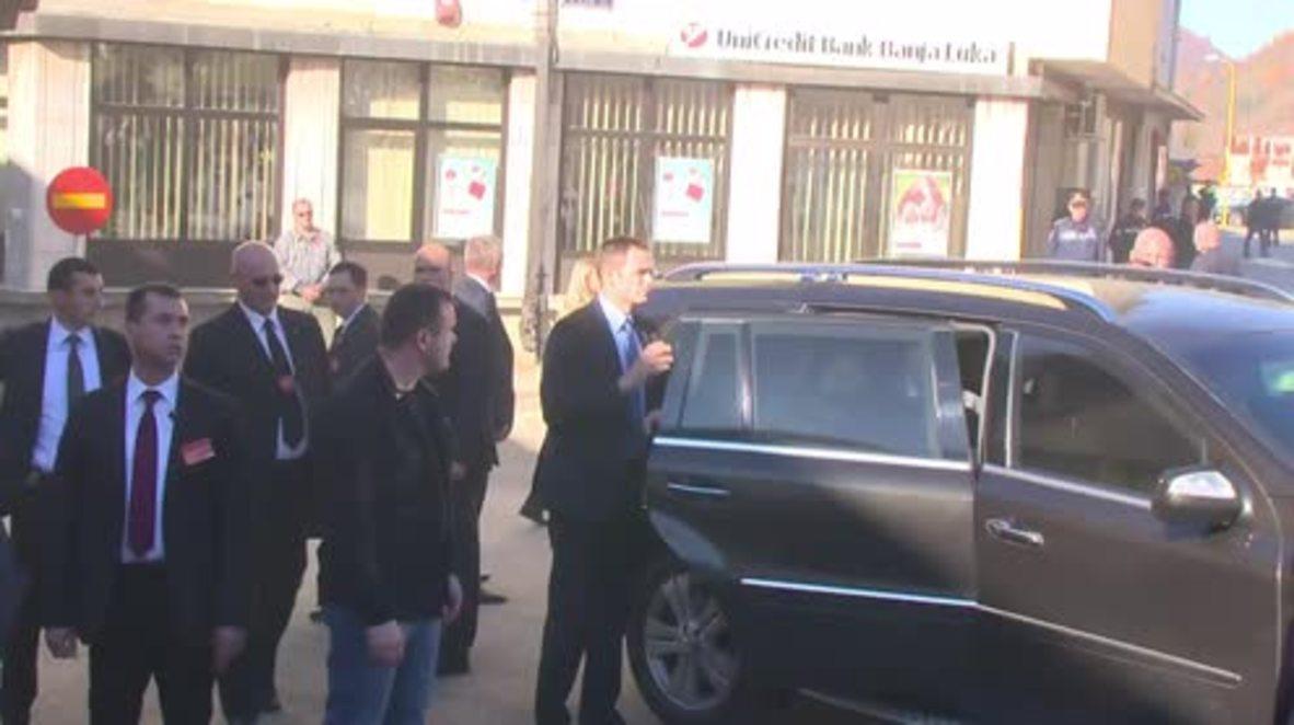 Bosnia and Herzegovina: Serb PM Vucic visits Srebrenica four months after attack