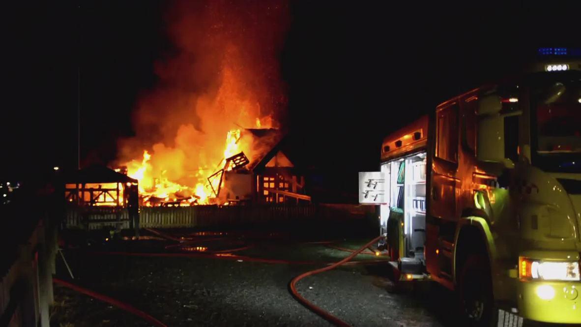 Norway: Huge blaze engulfs refugee accommodation centre in Hemsedal