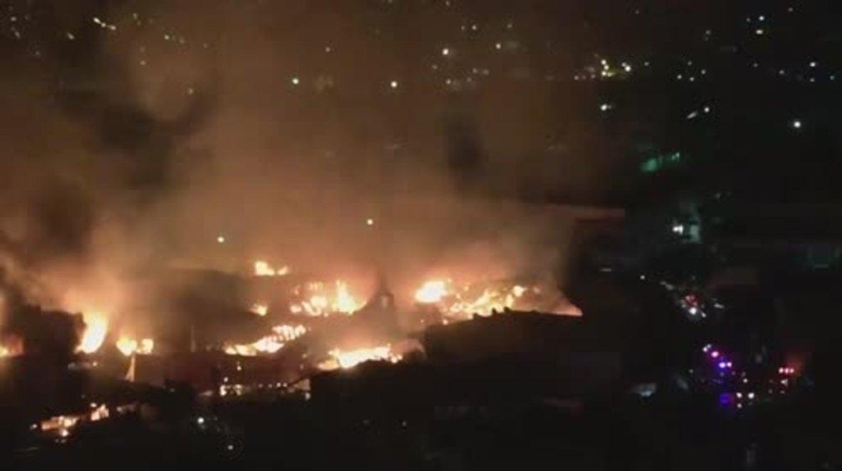 Philippines: Huge blaze sweeps through Quezon City