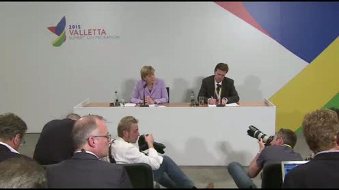 Malta: EU to hold refugee crisis talks with Turkey within weeks, says Merkel