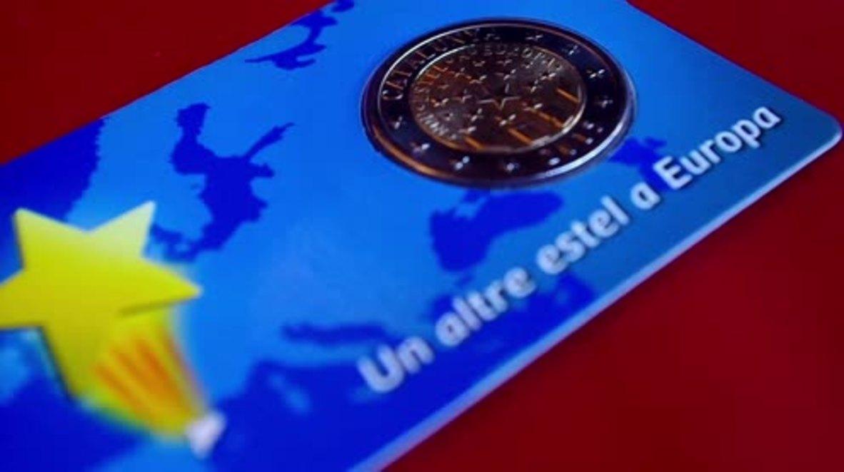 Spain: Catalan euro goes on display in Barcelona