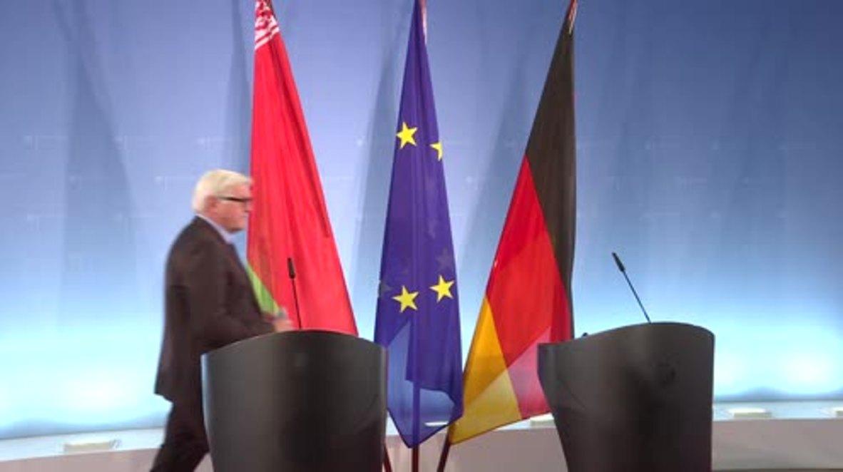 Germany: Steinmeier talks Ukraine conflict with Belarusian FM Makei