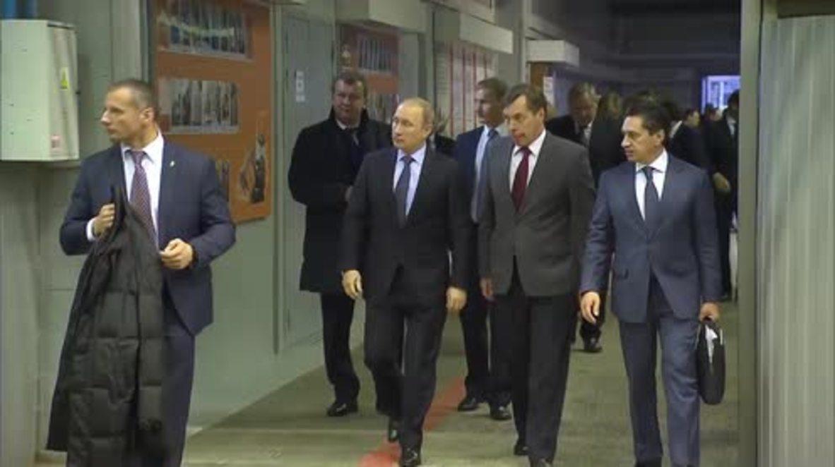 Russia: Putin inspects new IFV based on T-14 Armata platform
