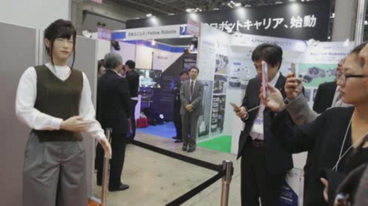 Japan: Eerily realistic humanoids hit the stands at Tokyo robotics fair