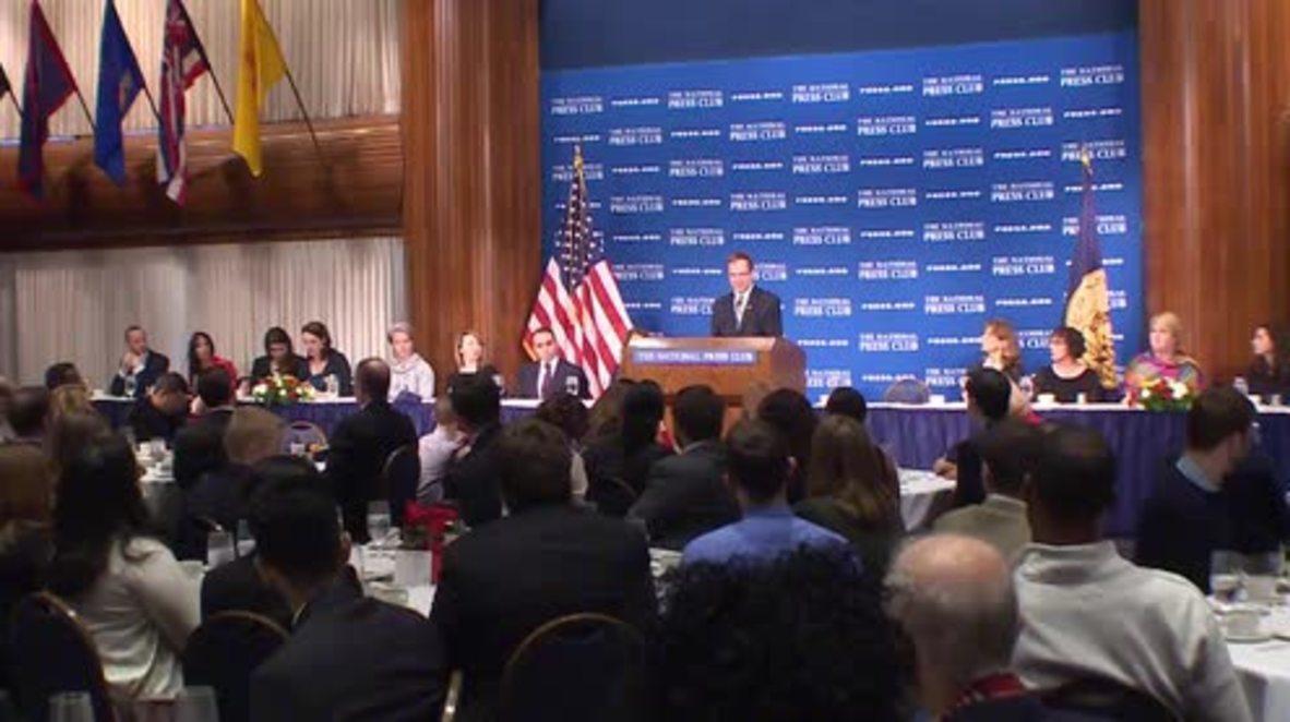 USA: FIFA presidential hopeful Prince Ali bin Hussein calls for organisation's reform