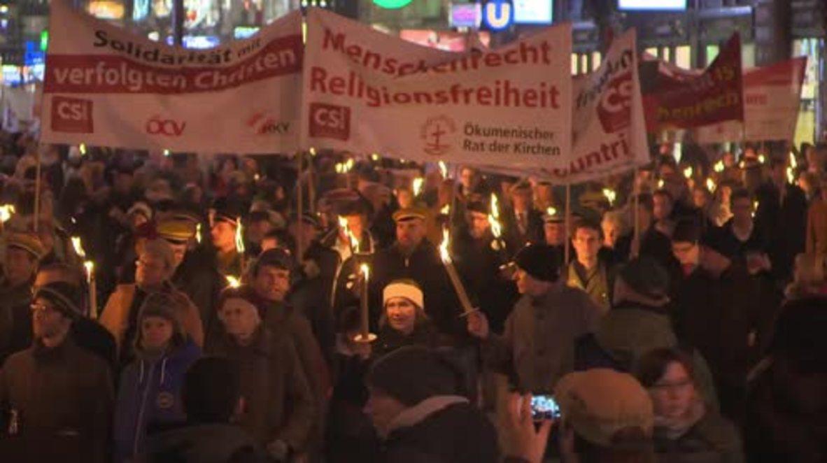 Austria: Torch-lit vigil held in Vienna against 'religious intolerance'