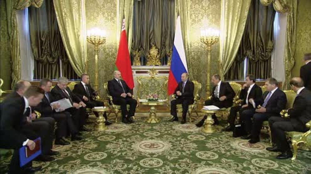 Russia: Putin welcomes Lukashenko for 'essential' bilateral talks
