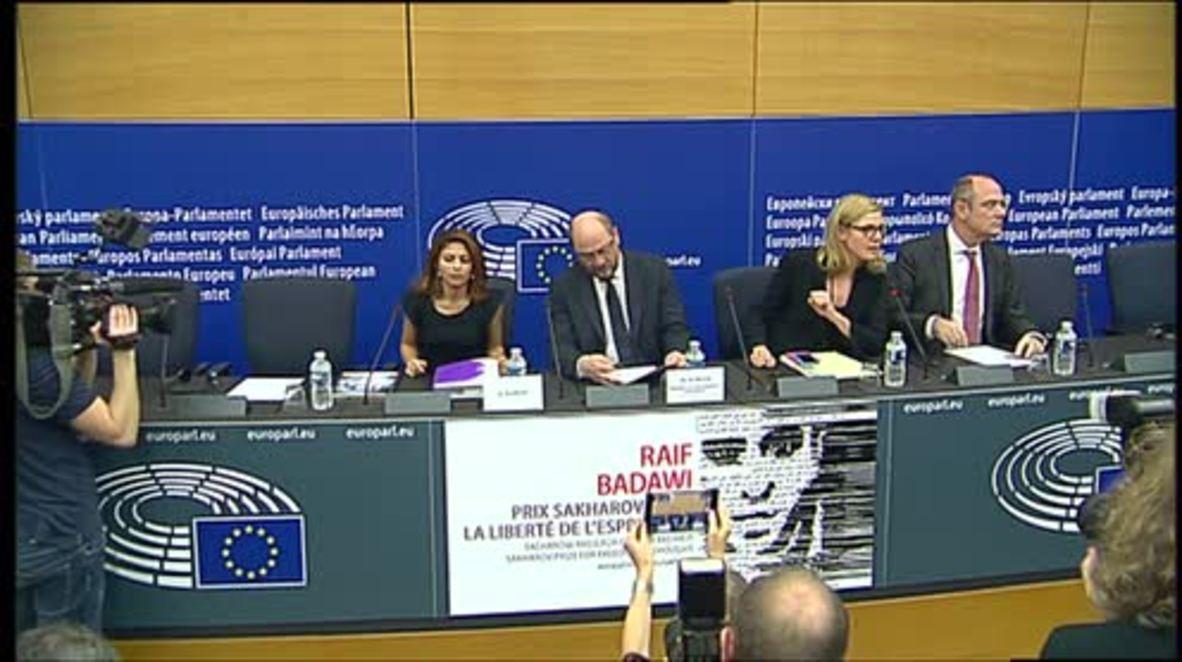 France: Jailed Saudi writer Raif Badawi awarded Sakharov Prize