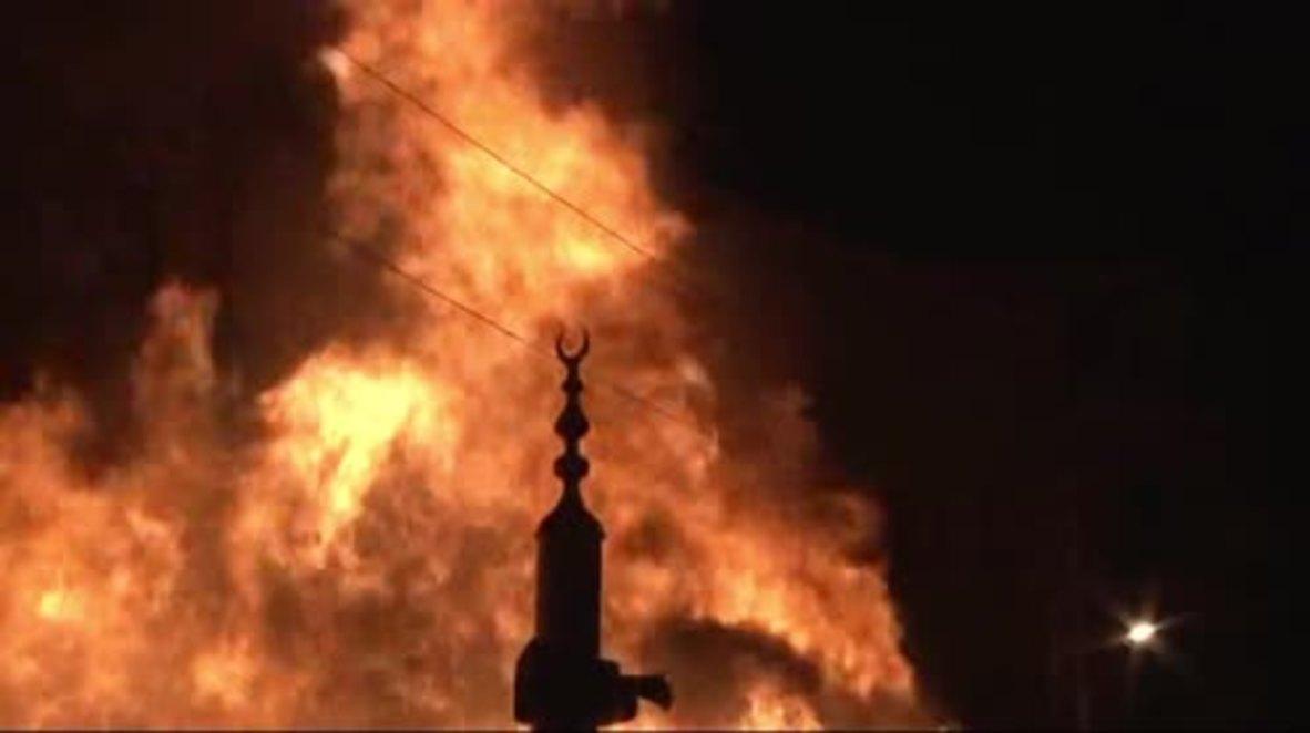 Turkey: Fierce blaze rips through Ottoman People's Bazaar in Ankara