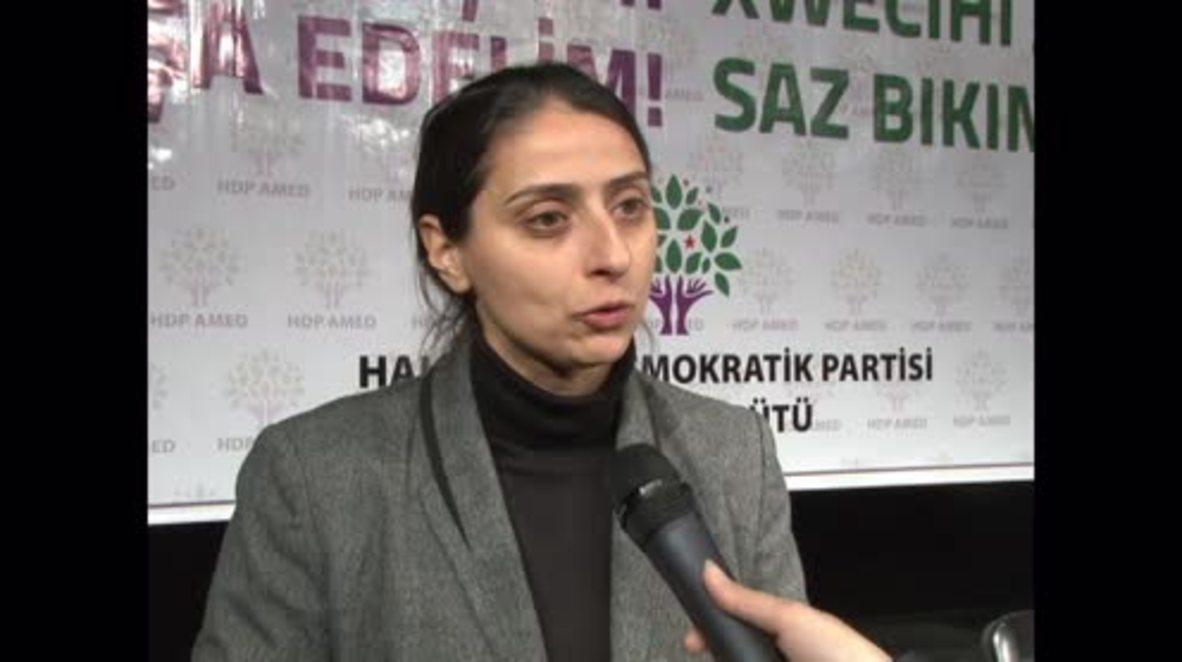 Turkey: Feleknas Uca condemns state media censorship, thanks 'free media members'