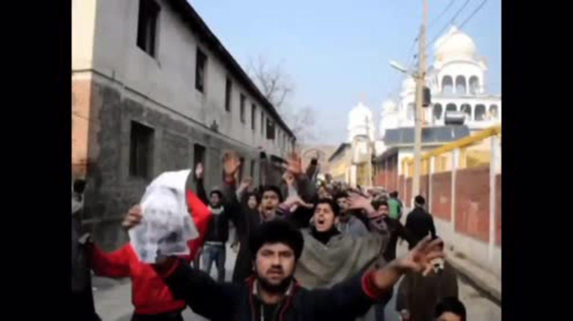 India: Kashmiri protesters condemn Saudi execution of Sheikh Nimr