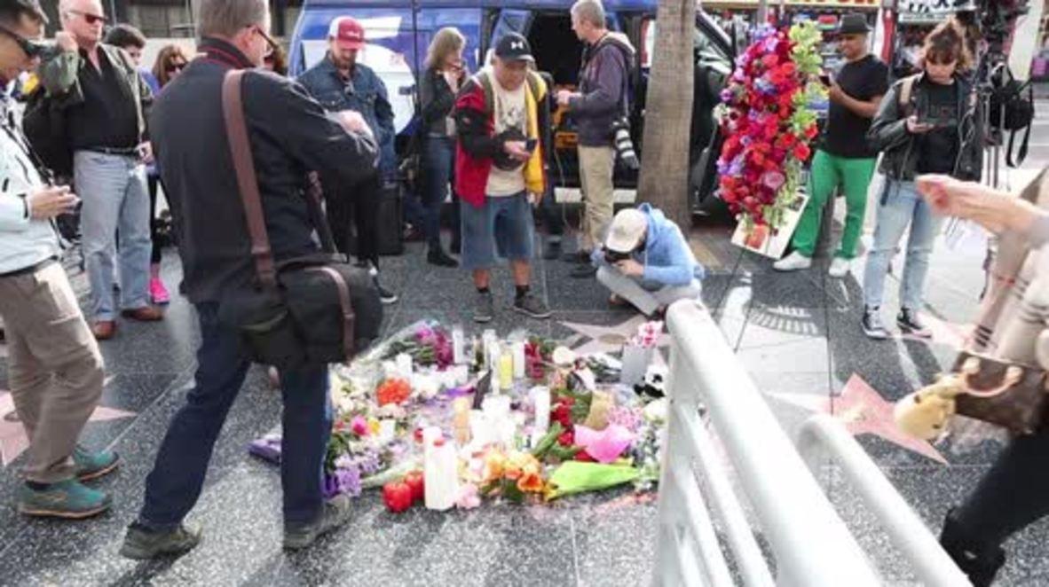 USA: Los Angeles mourns music legend David Bowie
