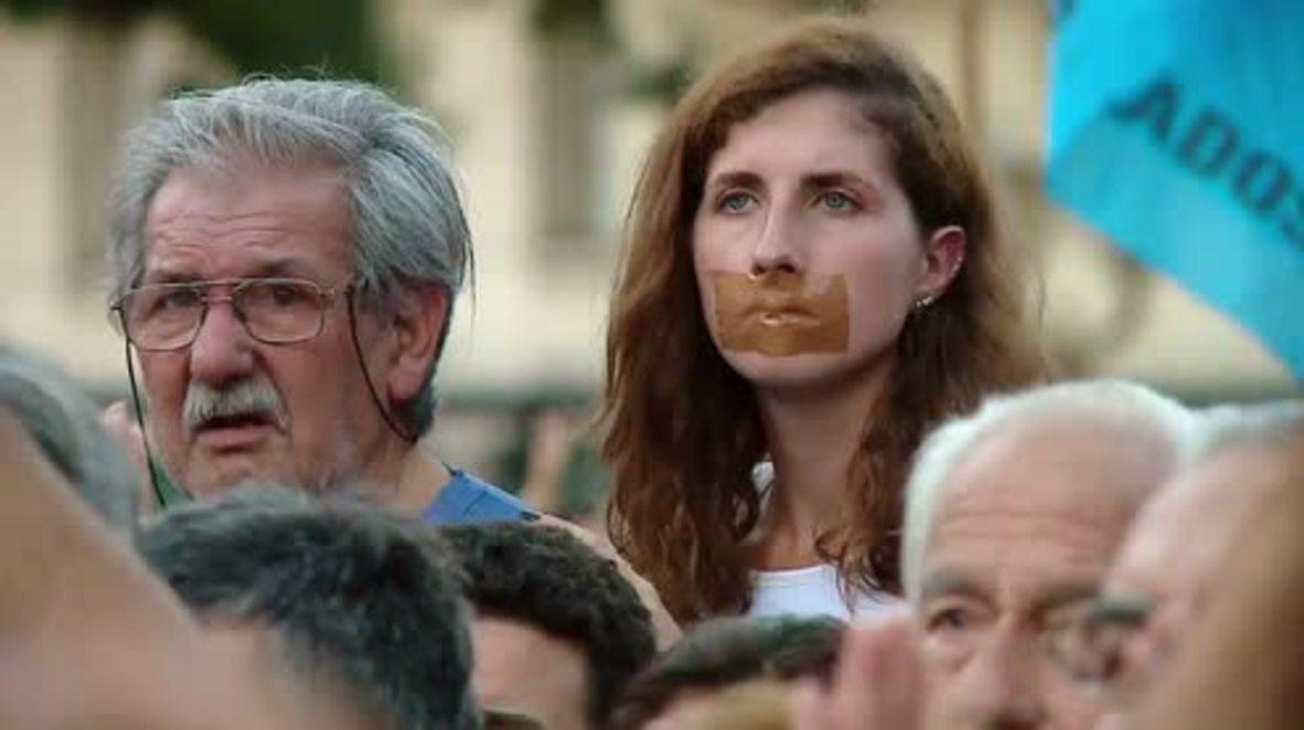 Argentina: Anti-Macri protesters denounce sacking of Uruguayan journo
