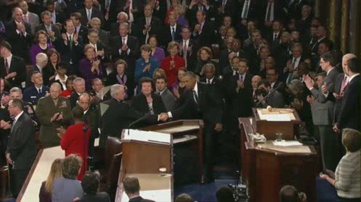 USA: Obama talks Cuba, Ukraine & Gitmo at State of the Union address