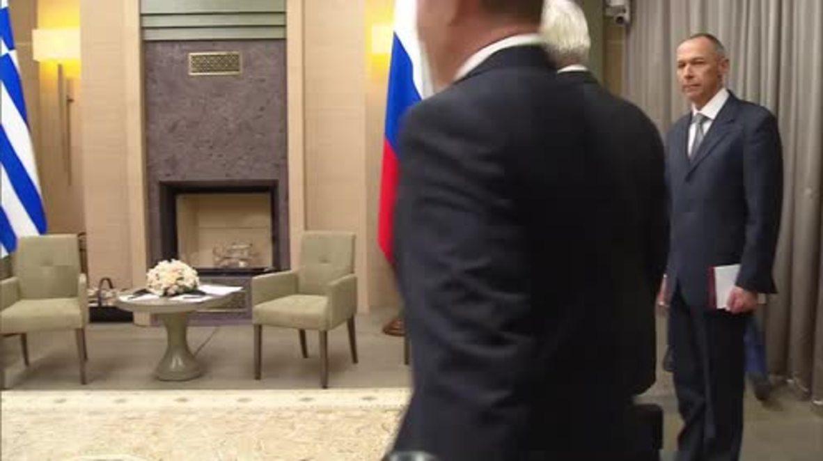 Russia: Greek president and Putin boost bilateral economic ties