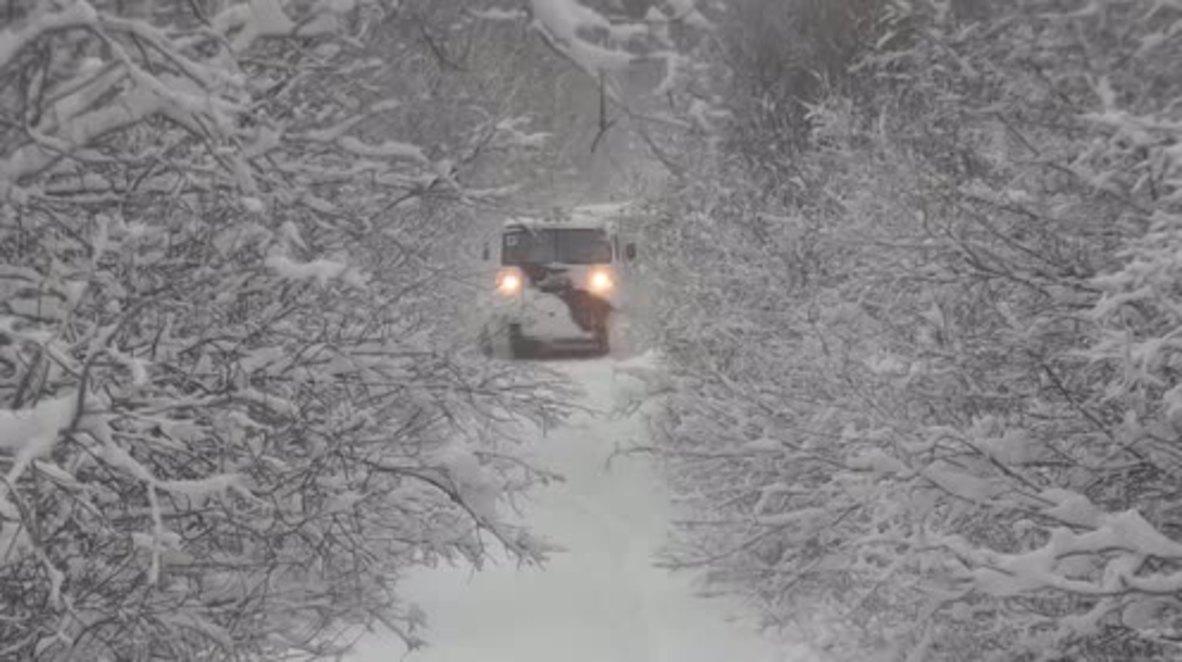 Russia: Arctic infantry test drive new Ruslan ATV on mountainous snow