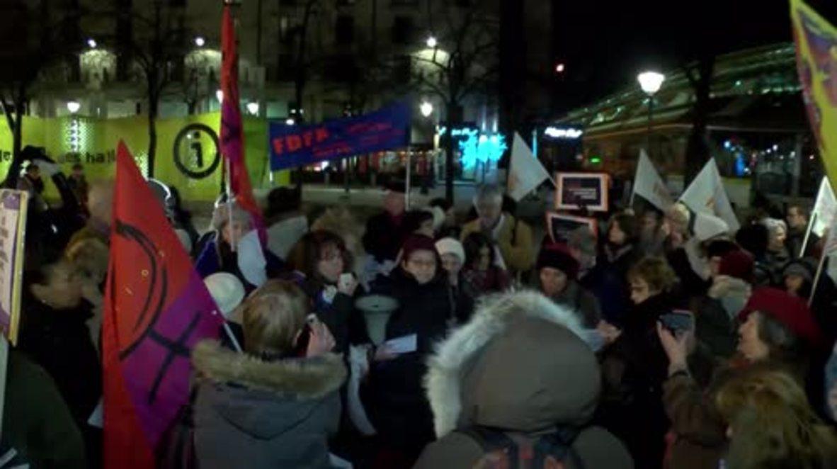 France: Paris protesters decry Cologne sexual assaults and rape culture