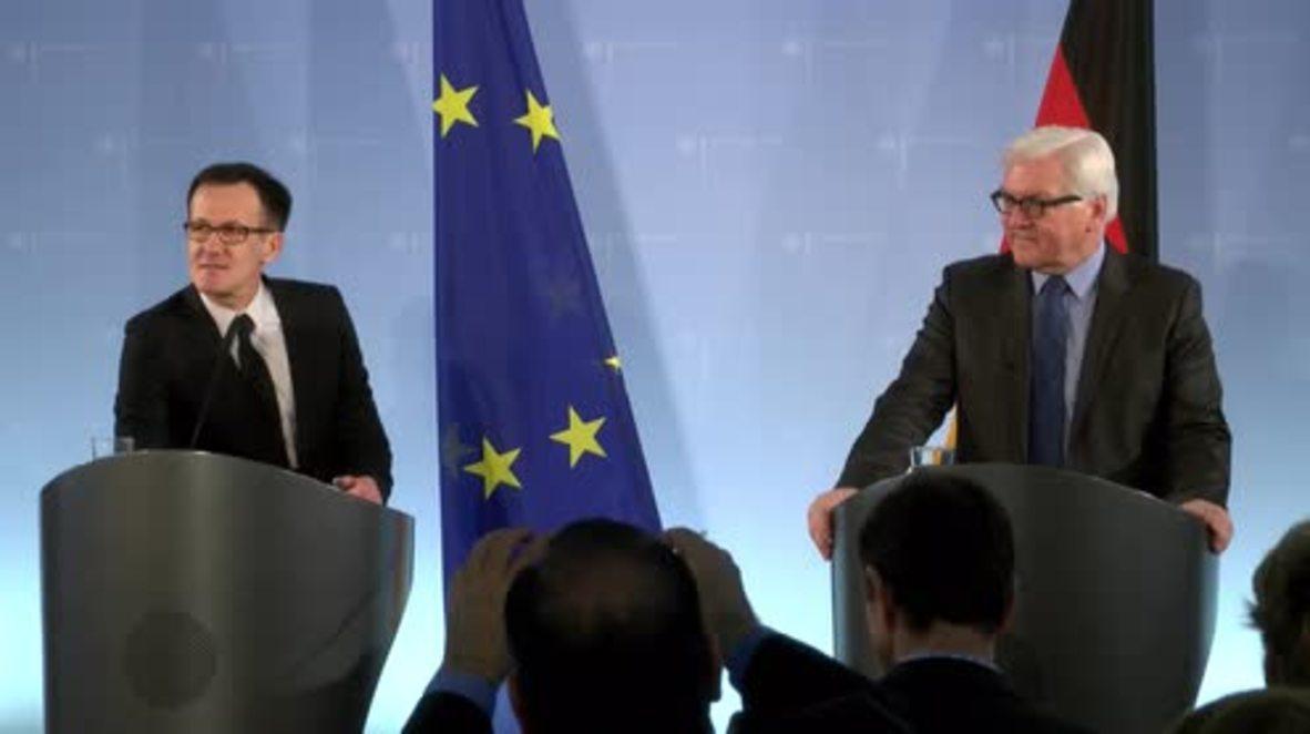 Germany: Closing Europe's internal borders is not a solution - FM Steinmeier