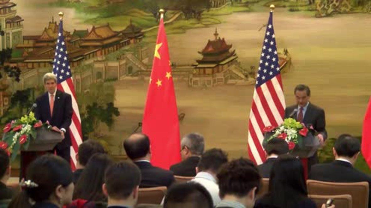 China: Wang Yi warns Kerry on Taiwan, South China Sea issues' impact on relations