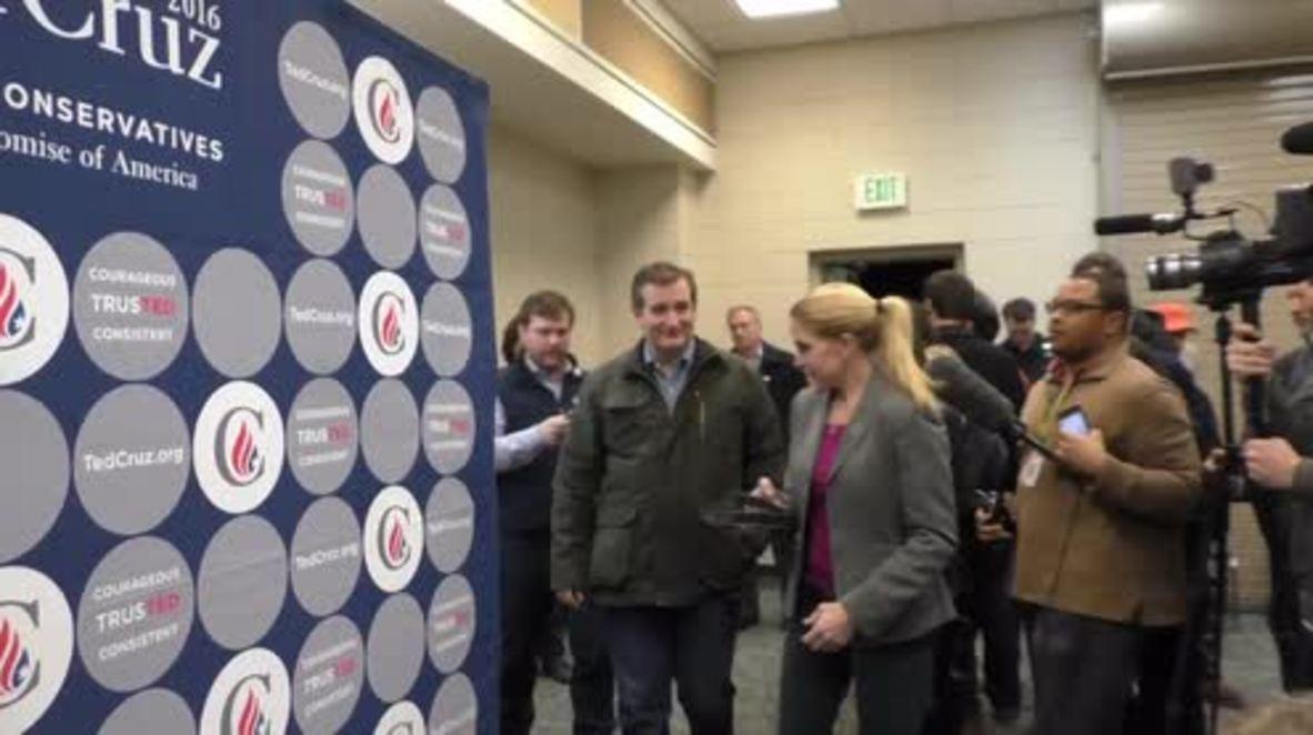 USA: Ted Cruz condemns Trump and Rubio at Iowa campaign rally
