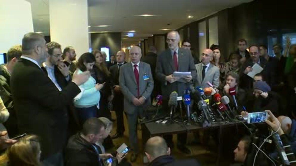 Switzerland: Terrorism used as 'political weapon' to pressure Syrian govt. - Jaafari