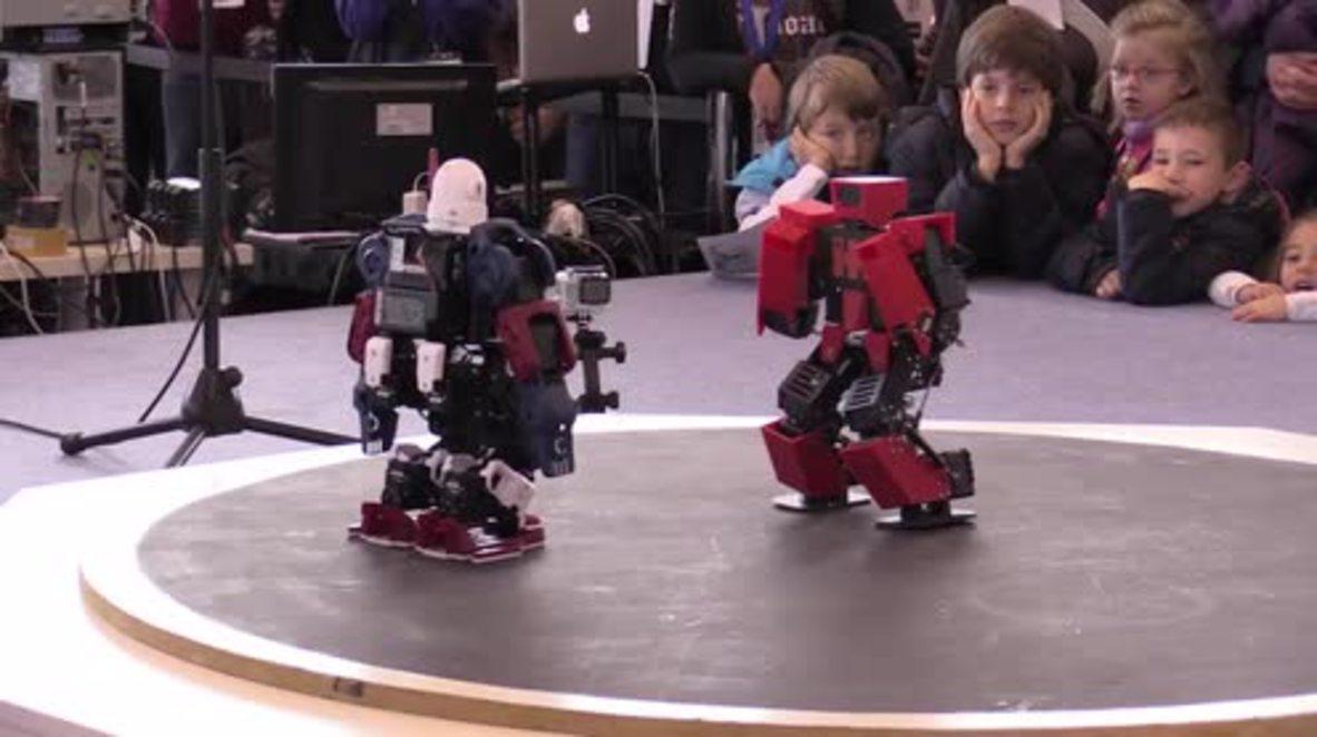 Spain: Watch humanoid robots do battle in Madrid