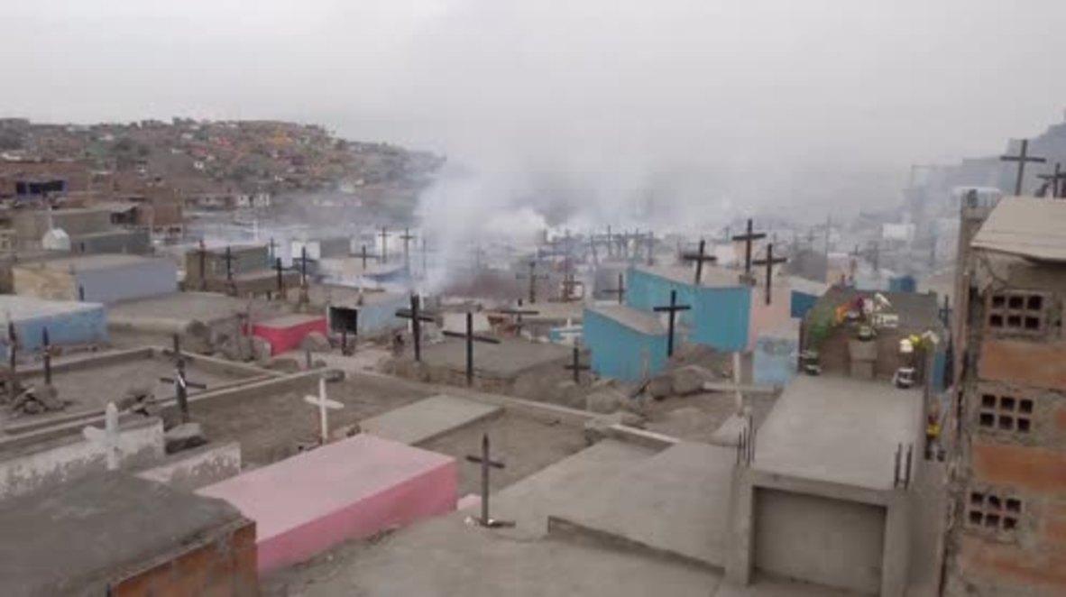 Peru: Authorities blast cemetery with fumigators in fight against Zika virus