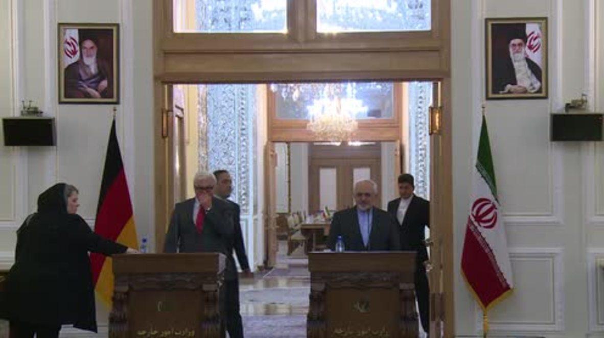 Iran: FM Zarif slams Saudi Arabia during joint presser with Germany's Steinmeier