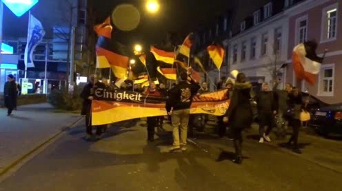 Germany: Police officer injured as far-right rallies through Karlsruhe