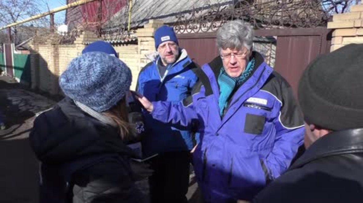 Ukraine: OSCE investigate shelling of Donetsk village
