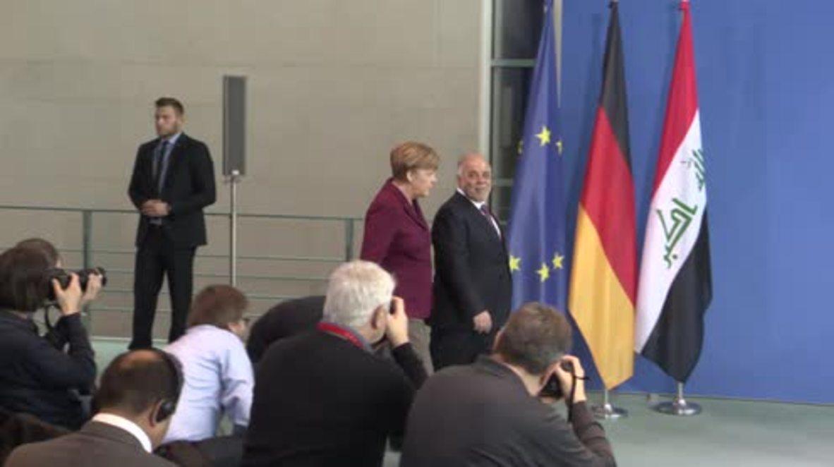 Germany: Merkel announces €5 million loan to Iraq to aid reconstruction