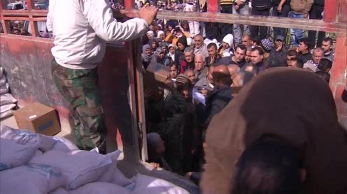 Syria: Humanitarian aid reaches needy in Latakia village