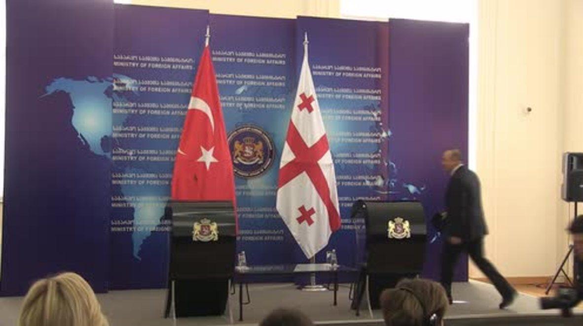 Georgia: Turkish FM Cavusoglu backs Tbilisi's 'Euro-Atlantic' aspirations