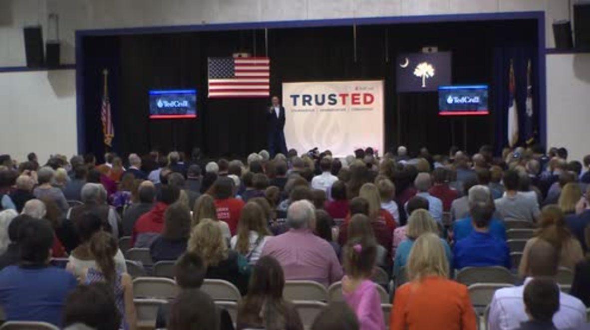 USA: Cruz touts polls after becoming South Carolina frontrunner