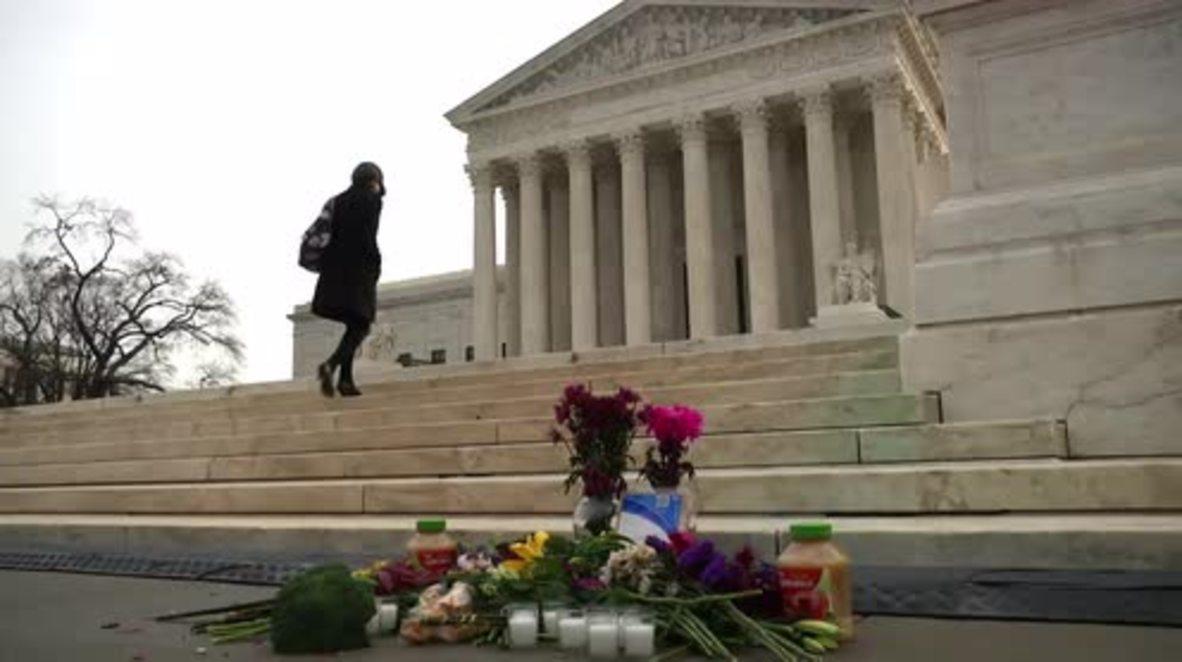 USA: Judge Scalia's body brought to lie in repose in Supreme Court