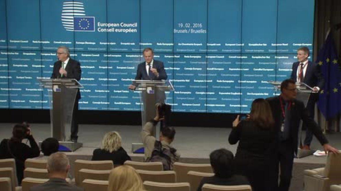 Belgium: EC Pres. Juncker and Donald Tusk discuss Brexit deal