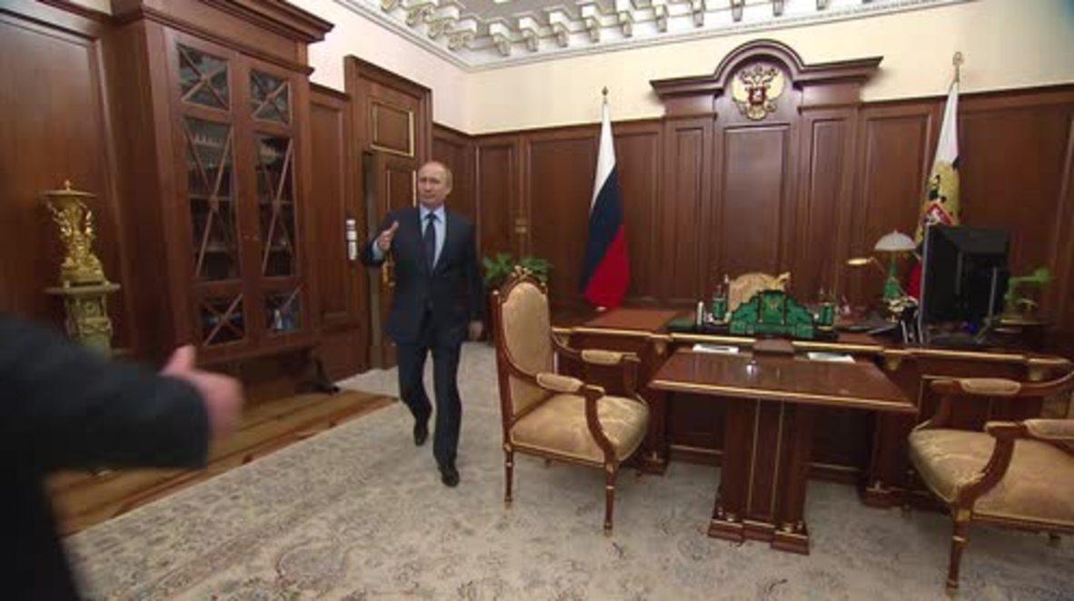 Russia: Altai Republic head briefs Putin on aftermath of 2014 floods