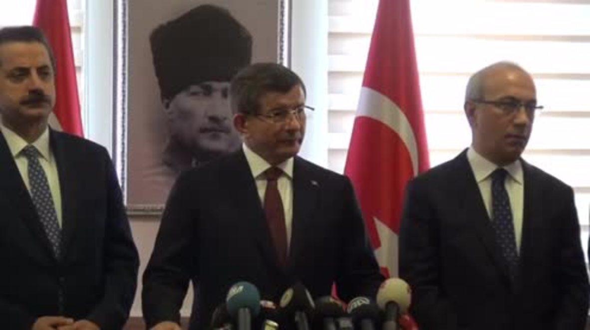 "Turkey: ""Turkey will not be bound by the Syrian ceasefire"" - Davutoglu"