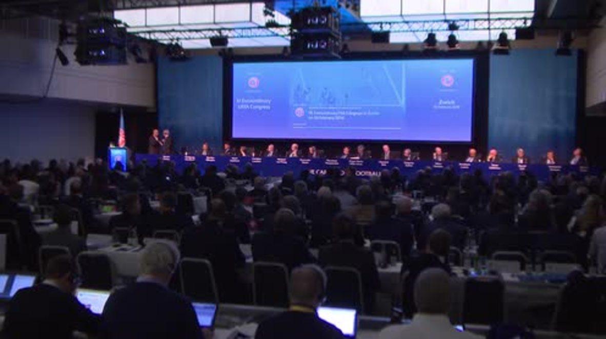 Switzerland: FIFA pres. candidates woo UEFA congress members ahead of vote