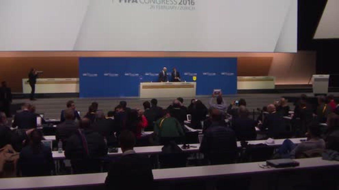 Switzerland: Gianni Infantino elected FIFA president