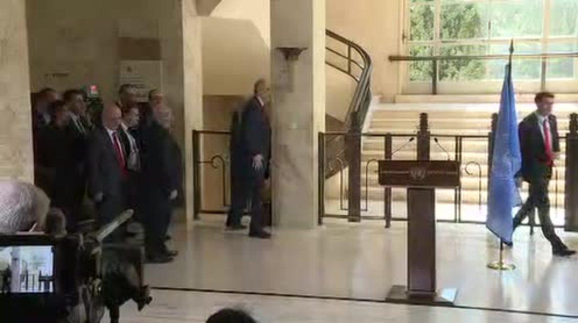 Switzerland: 'Mutual understanding' between Syrian govt delegation, de Mistura